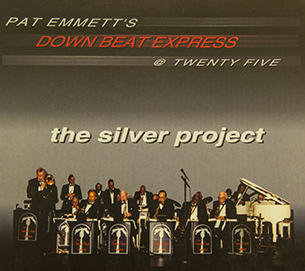Photo of the 19 piece jazz orchestra Down Beat Express.