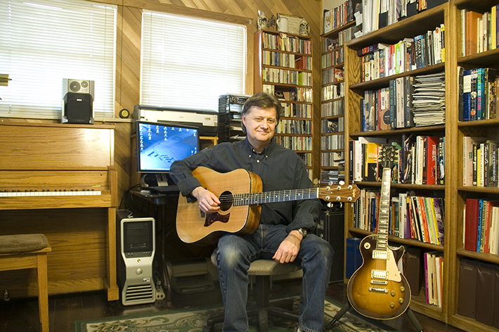Photo of guitar teacher John Caterino in his studio.