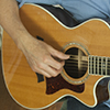 Photo of Taylor acoustic guitar.